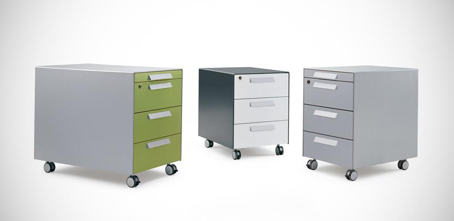 Cassettiere mobili in metallo per ufficio icam brunoffice - Cassettiere ufficio ...