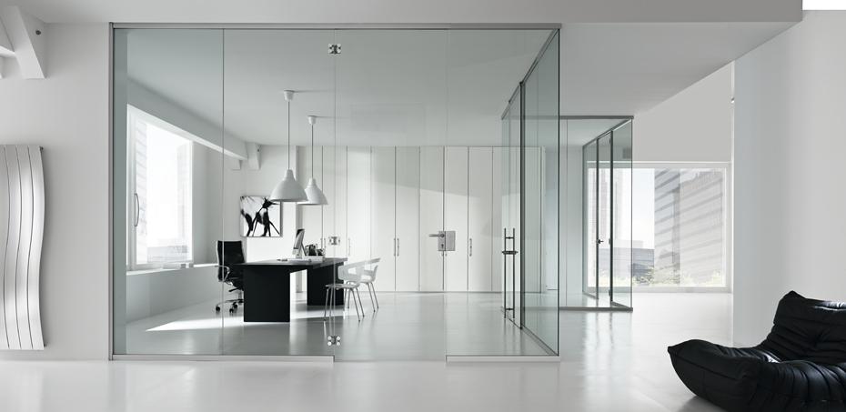 Parete divisoria monolitica in vetro time - Pareti divisorie in vetro per interni casa prezzi ...