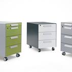 Cassettiera ufficio cassettiere in metallo e in legno per for Cassettiere ufficio design