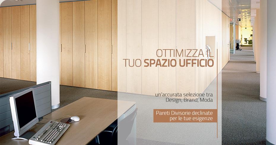 Pareti divisorie per ufficio: armadi metallici, tende e illuminazione